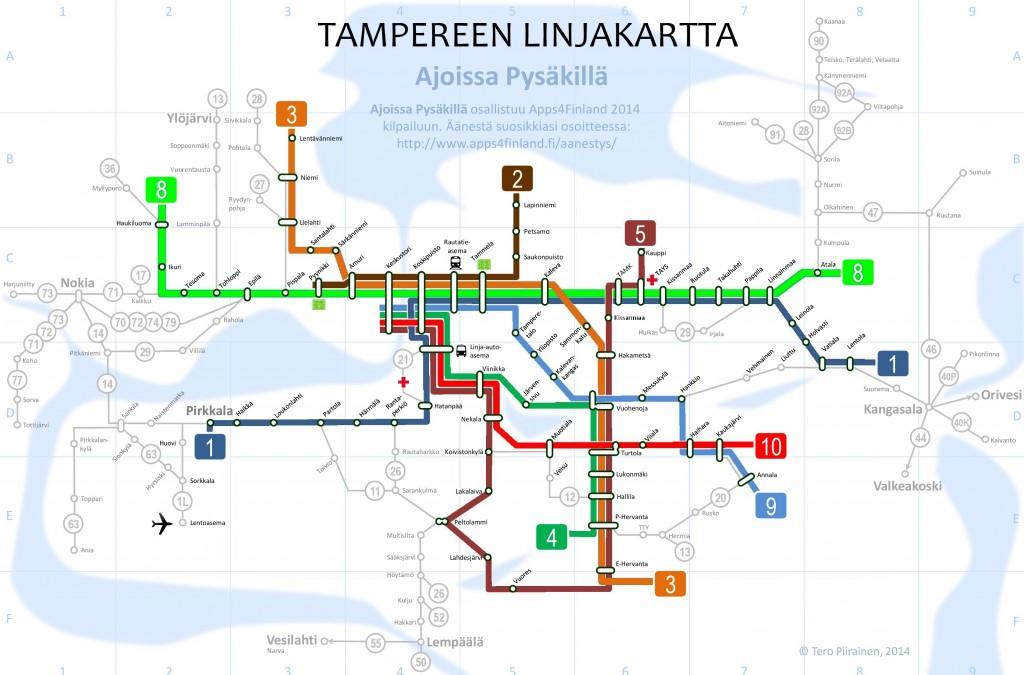 Apps4Finland-2014-Ajoissa_pysakilla-Linjakartta1